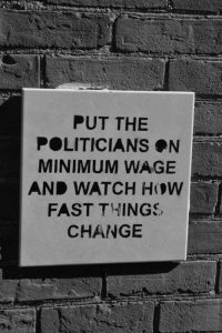 Politician and Minimum Wage