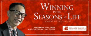 Winning in the seasons of life francis kong small